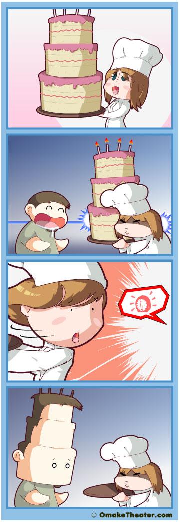 Friday 4Koma 第12話 - Let Them Eat Cake! 「4コマ漫画」
