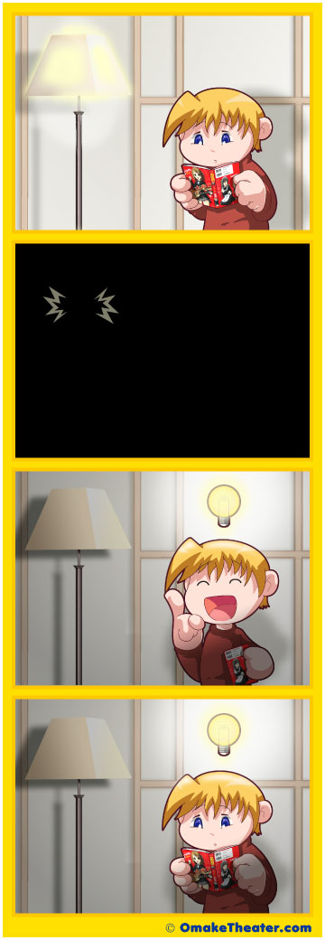 Friday 4Koma 第39話 - Alone in the Dark 「4コマ漫画」