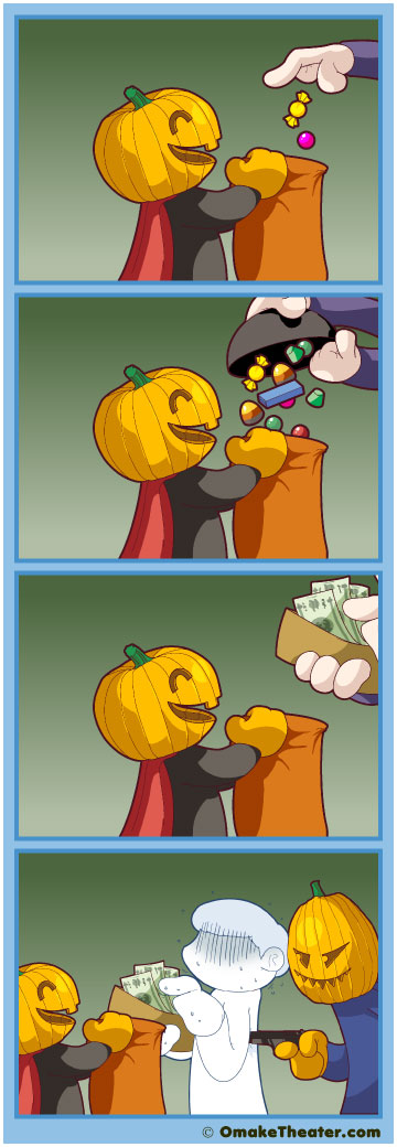 Friday 4Koma 第94話 - Happy Belated Halloween! 「4コマ漫画」
