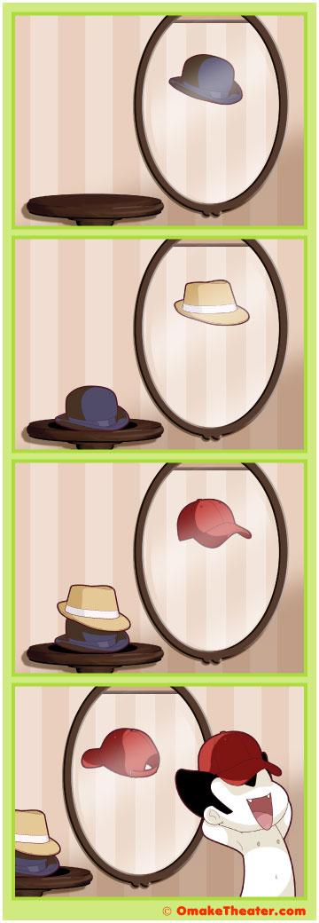 Friday 4Koma 第113話 - Hats Off 「4コマ漫画」