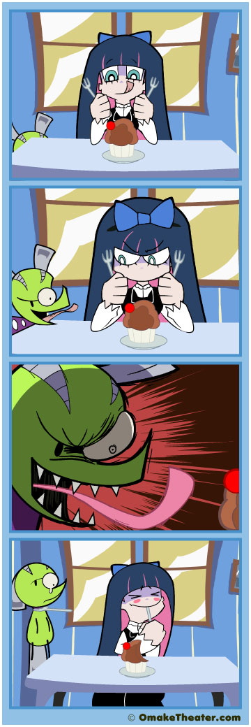 Friday 4Koma 第114話 - Pastry & Stocking with Gluttony 「4コマ漫画」