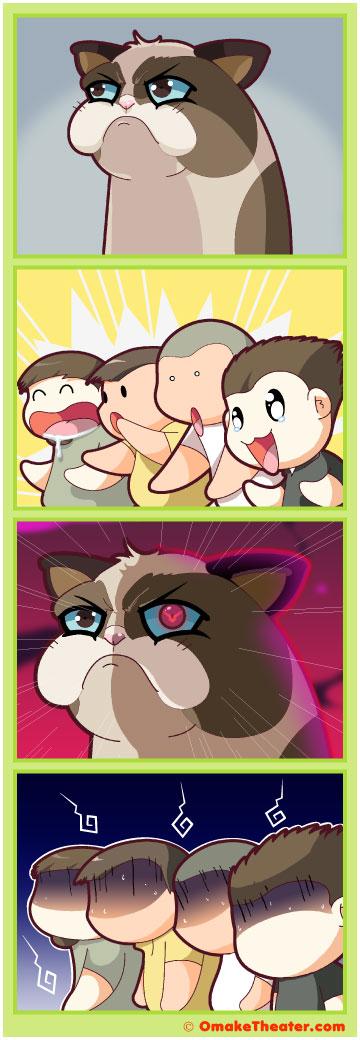 Friday 4Koma 第129話 - Why So Grumpy, Cat? 「4コマ漫画」