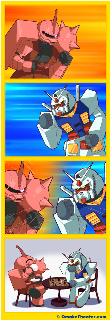 Friday 4Koma 第175話 - Char's Countergambit 「4コマ漫画」