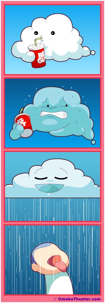 Friday 4Koma 第312話 - Cloudburst 「4コマ漫画」