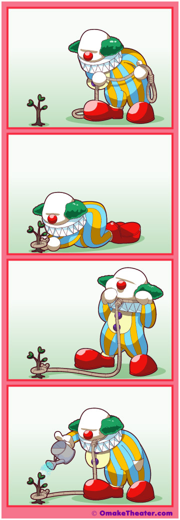 Friday 4Koma 第212話 - Clowning Around 「4コマ漫画」