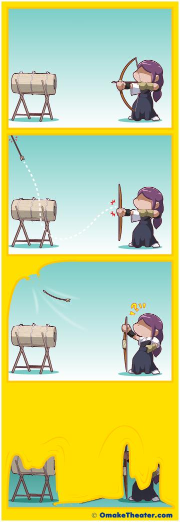 Friday 4Koma 第343話 - Fallen Archery 「4コマ漫画」