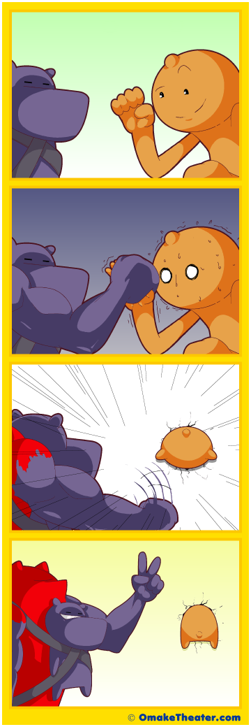Friday 4Koma 第351話 - A Farewell to Arm Wrestling 「4コマ漫画」