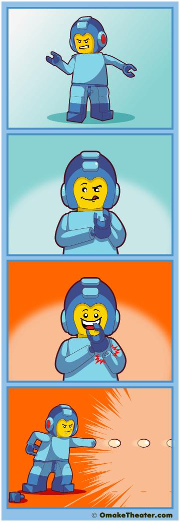 Friday 4Koma 第262話 - Lego Mega Man is Canon 「4コマ漫画」