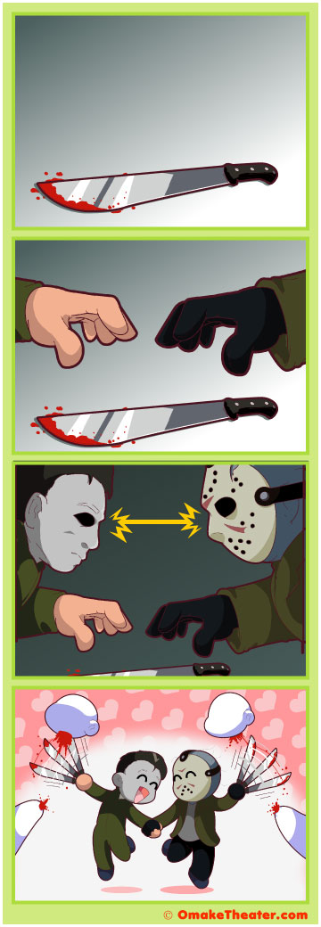 Friday 4Koma 第229話 - Michael Myers vs. Jason Voorhees 「4コマ漫画」