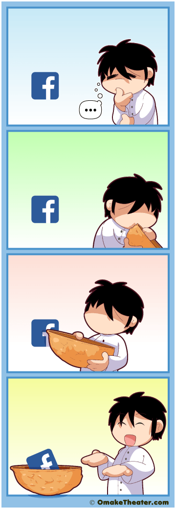 Facebook in a Nutshell 「4コマ漫画」