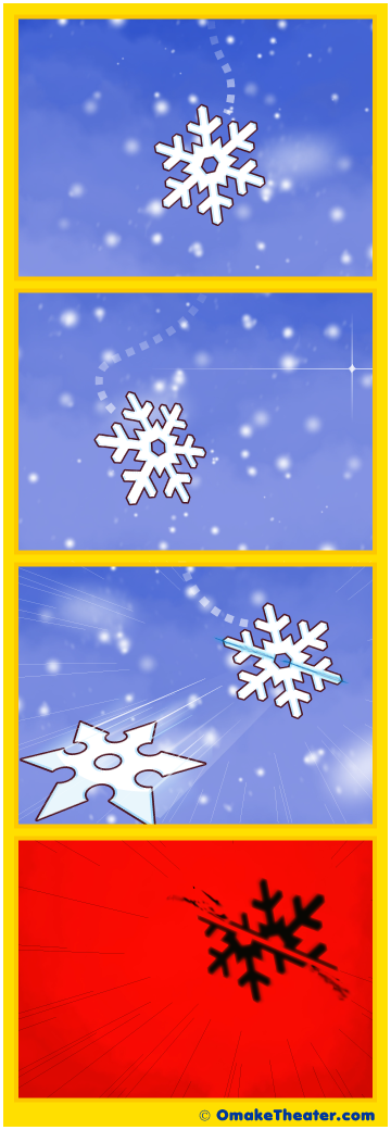 Friday 4Koma 第339話 - One Little Snowflake 「4コマ漫画」
