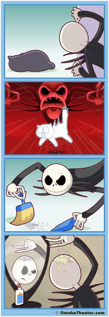Friday 4Koma 第242話 - Scaredy Cat 「4コマ漫画」