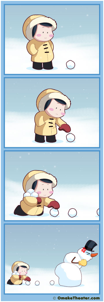 Friday 4Koma 第194話 - Snow Day 「4コマ漫画」