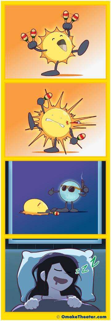 Friday 4Koma 第279話 - Sunrise, Sunset 「4コマ漫画」