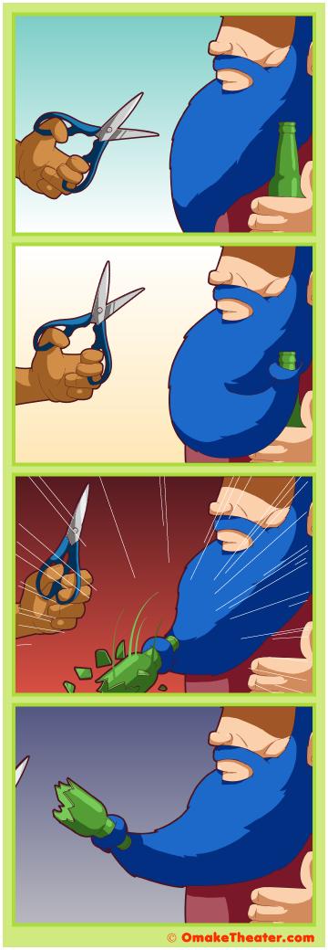 Friday 4Koma 第337話 - The Beard's Tale 「4コマ漫画」