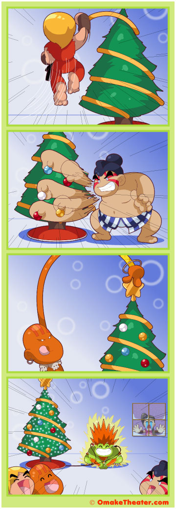 Friday 4Koma 第185話 - How to Trim a Christmas Tree 「4コマ漫画」