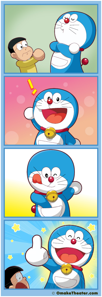 Friday 4Koma 第278話 - There's the Doraemon 「4コマ漫画」