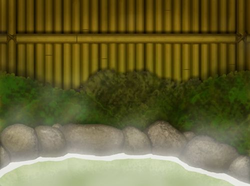 Hot Spring Background from Friday 4Koma 第177話