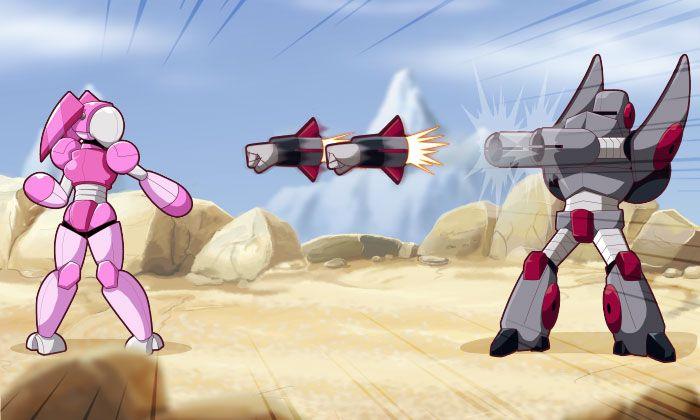 Friday 4Koma 第399話 - Giant Robots Fighting