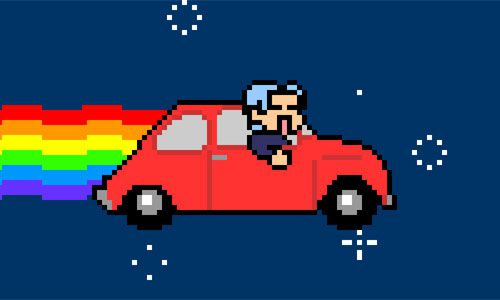 Nyan Car - Omake Theater