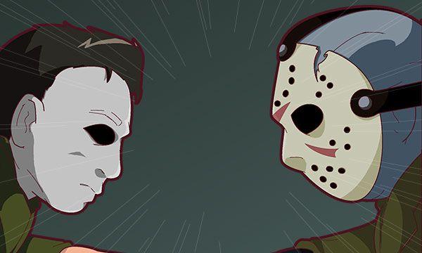 Friday 4Koma 第229話 - Michael Myers vs. Jason Voorhees